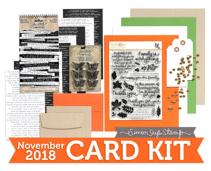 Thanks & Leaves – Simon Says Stamp November 2018 Card Kit