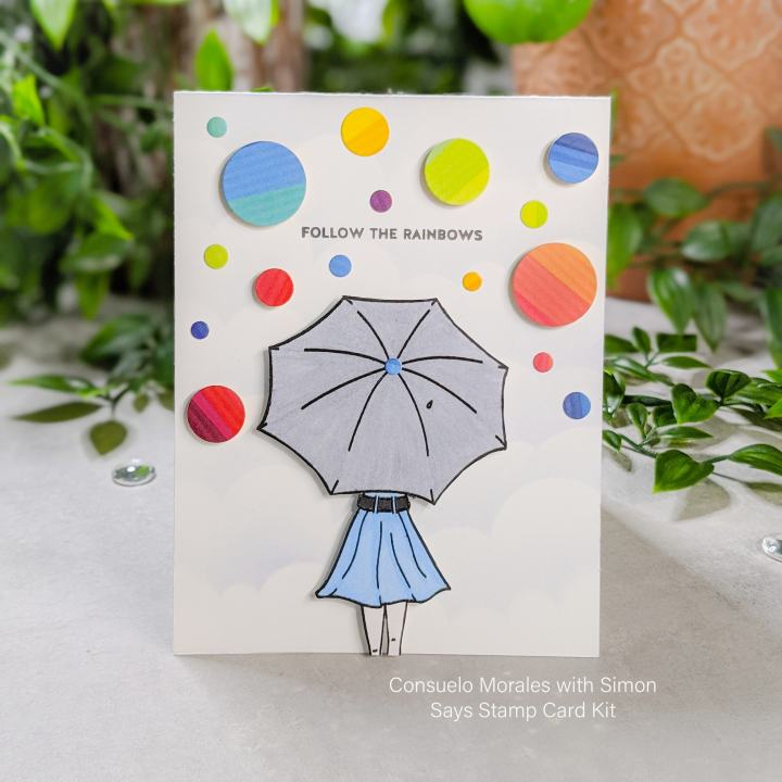 "Simon Says Stamp ""Follow the Rainbows"" April 2020 Card Kit – Part 1"